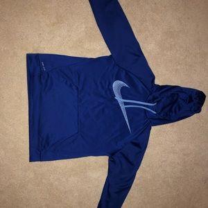 Blue Nike Dri-Fit Sweatshirt